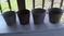 4 Galvanized Buckets