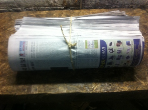 Rolled Newspaper Overissue