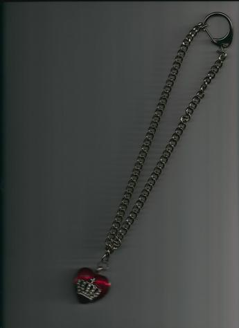 Majestically Stylish Platinum Tone Alloy Red Heart (faux)Rhinestone cross & crown enamel Hollow Heart pendant necklace