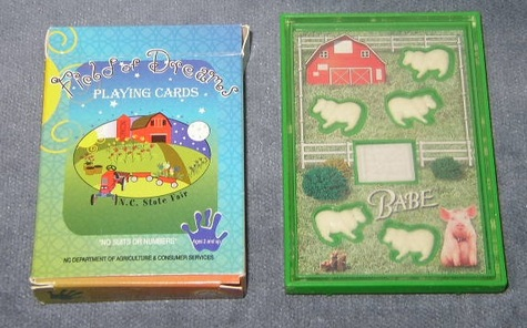 Farm Theme - Playing Cards & Dexterity Game