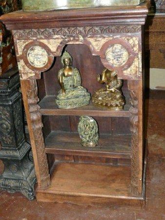 Antique Bookcase India Carved Wood Bookshelf Furniture India Decor Pair Available