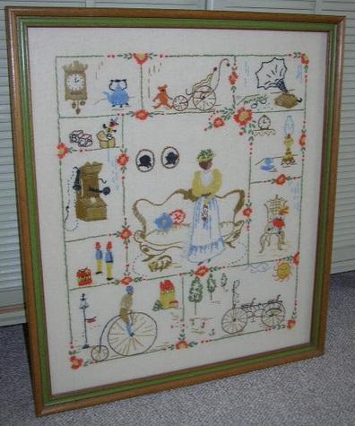 Item #1 Vintage, Framed Stitchery