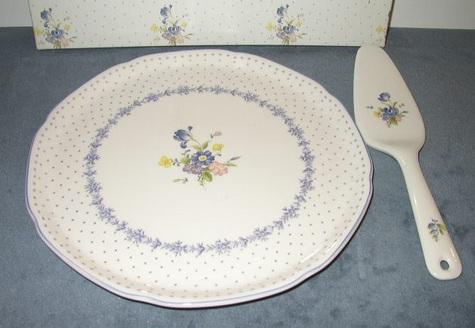 Blue Peony Nikko Hostess Plate with Server
