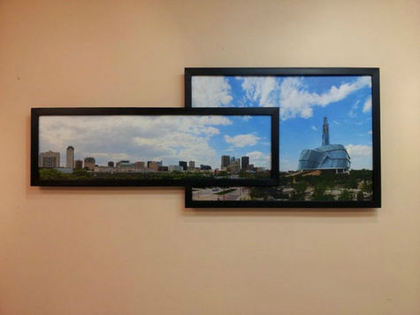 Winnipeg Skyline Panorama Limited Edition Framed Canvas Print