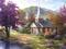 Thomas Kinkade Country Church Cross Stitch Pattern***LOOK***