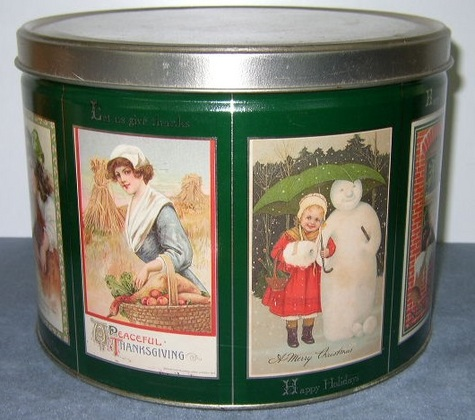 Vintage Tin - Yearly Holiday Theme