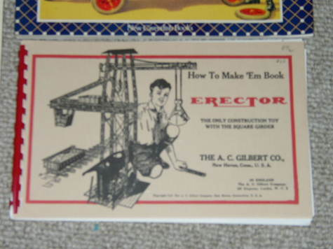 New Reproduction of 1938 8-1/2 Erector Set Manual