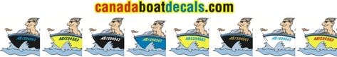 Canada Boat Decals, custom made decals