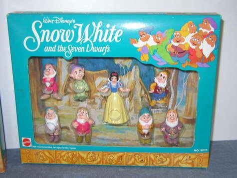 Complete Set, Small, Plastic/Rubber Figurines - Snow White & the Seven Dwarfs