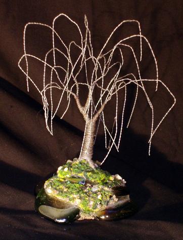Steel Willow, Wire Tree Sculpture