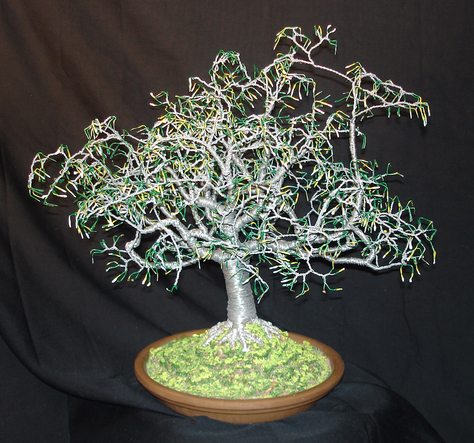 Summer  1, Wire Tree Sculpture with full color leaves