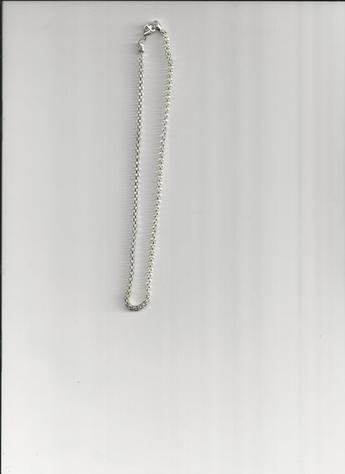 Silver-plated 12-inch Choker Clasp Necklace.  LIGHTWEIGHT!