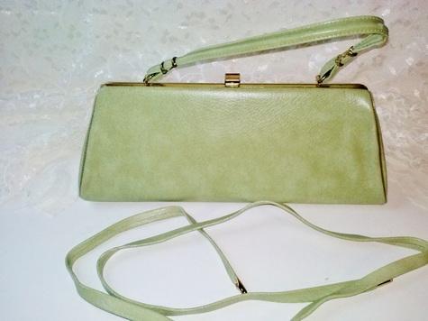 Green purse & belt set
