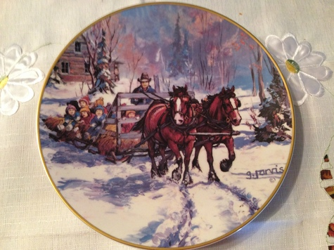 G Jarvis collectors plate