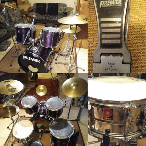 Drum Kit PREMiER Made in England with Hardware and Sabian AA Cymbals