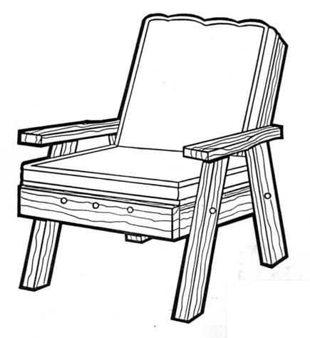 Back Yard Chair #170