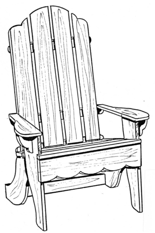 Adirondack Chair #167