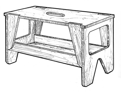 Portable Workbench #919 - Woodworking / Craft Patterns.