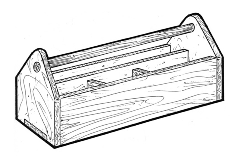 Tool Toter #919 - Woodworking / Craft Pattern.