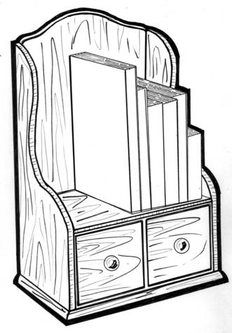 Cookbook Shelf #183 - Woodworking / Craft Pattern.