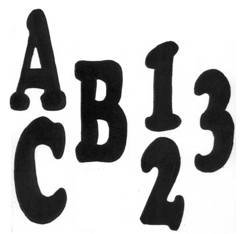 TRACEABLE ALPHABET #115 -  Woodworking / Craft Pattern.