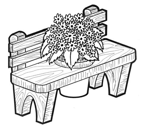 BENCH PLANTER #705 -  Woodworking / Craft Pattern