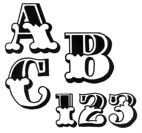 """TRACEABLE ALPHABET #118 - 2.5"""" TALL."""