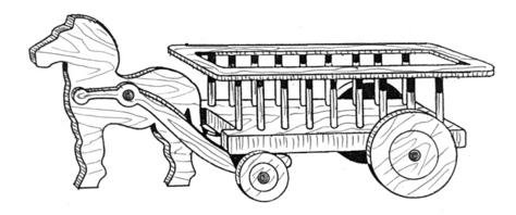 Wagon Planter #707 - Woodworking / Craft Pattern