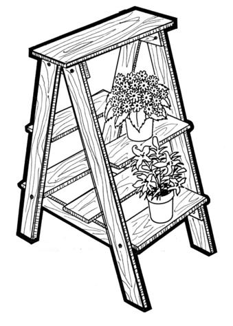 Plant Ladder #704 - Woodworking / Craft Pattern