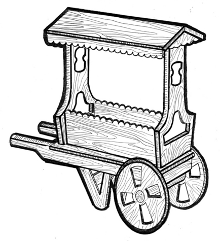 Flower Cart #710 - Woodworking / Craft Pattern.