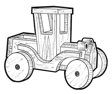 Truck Planter #706 - Woodworking / Craft Pattern