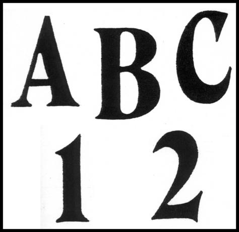 """TRACEABLE ALPHABET #113 -  2"""" & 1.5"""""""