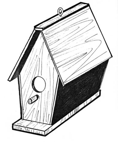 Bird House #910 - Woodworking / Craft Pattern