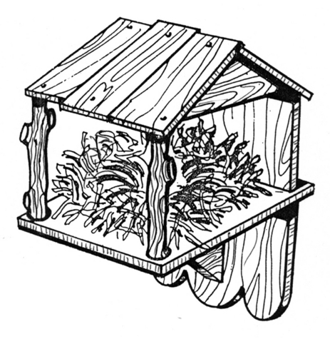 Nest Box Bird House #916 - Woodworking / Craft Pattern