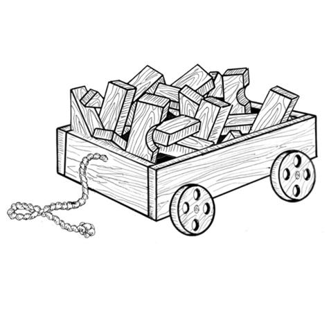 Wagon and Blocks #912 - Woodworking / Craft Pattern.