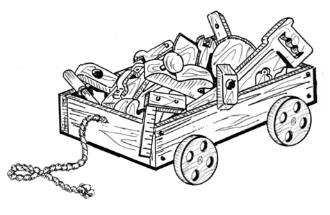 Wagon and Tools #913 - Woodworking / Craft Pattern