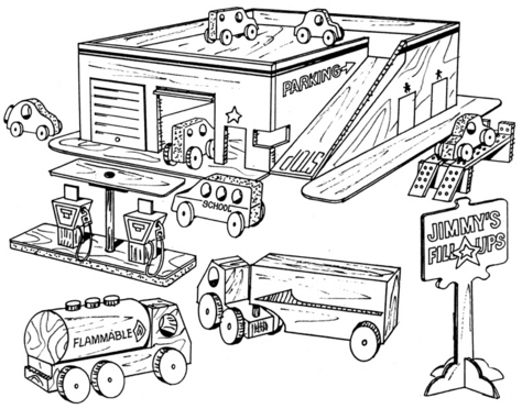 Jimmy's Fill Ups, Play Set #806 - Woodworking / Craft Pattern