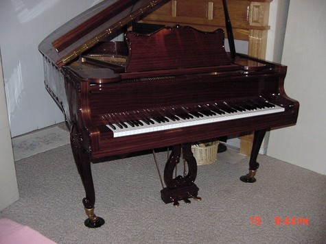 Rosewood Finish Queen Anne Parlor Grand Piano