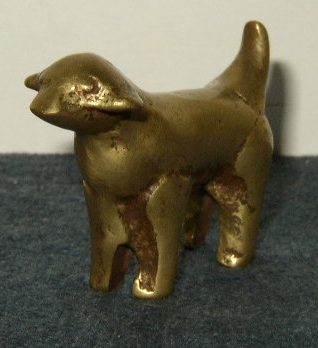 Brass Dog (or lamb)