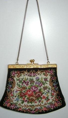 Vintage, Tapestry Hand Bag / Purse