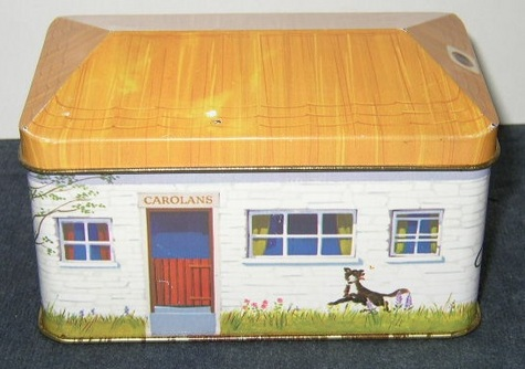 Thatch-Roof Cottage, Hinged-Lid Tin