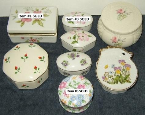 Trinket & Ring Boxes - Flower Designs