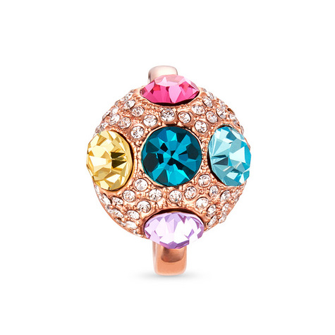 Multi-color Rose Metal One Size Fits All Ring. OH, SO BEAUTIFULLY STUNNING!  A MUST HAVE!