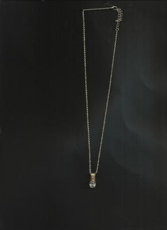 Brass-Plated Stone (faux) Diamond Cubic Zirconia Pendant Multi-Length Clasp Necklace.  SO COMFORTABLE TO WEAR!  A MUST HAVE!