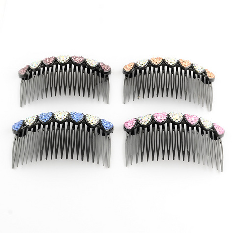 Rhinestones Hair Combs.  GLAM UP YOUR HAIR! CHOOSE FROM A VARIETY OF COLORS: PINK, WHITE, MAGENTA. (sorry, no blue in stock now)