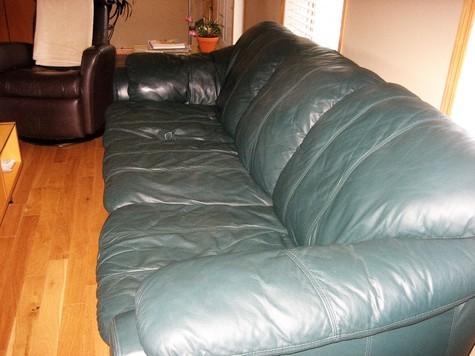 top grain leather sofa