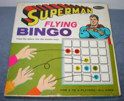 Superman Flying Bingo Game