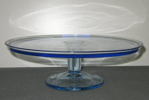 Blue Glass, Cake Stand