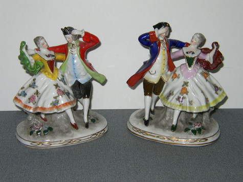 Porcelain, Dancing Couple Figurines