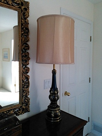 Lamp with black base